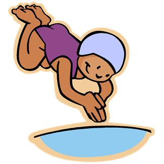 Someone Swimming Clipart