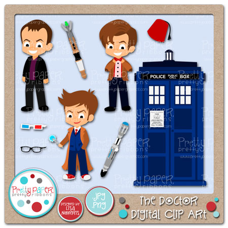 Sonic Screwdriver Clipart The Doctor Dig-Sonic Screwdriver Clipart The Doctor Digital Clip Art-18