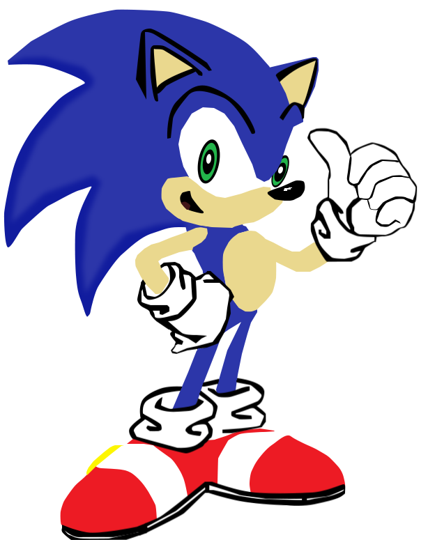 My first vector of Sonic The Hedgehog. by Flutterflyraptor ClipartLook.com