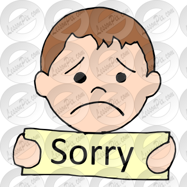 Sorry Picture For Classroom / Therapy Us-Sorry Picture for Classroom / Therapy Use Great Sorry Clipart-19