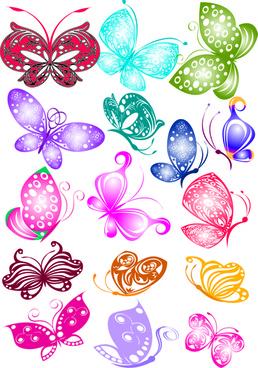 sorts of butterflies clip art - Free Downloadable Clipart