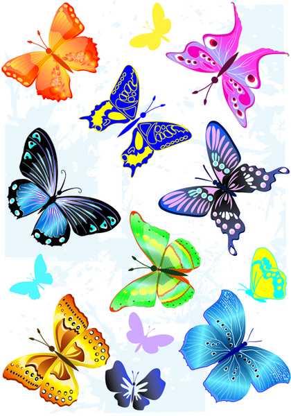 sorts of butterflies clip art - Free Downloadable Clipart