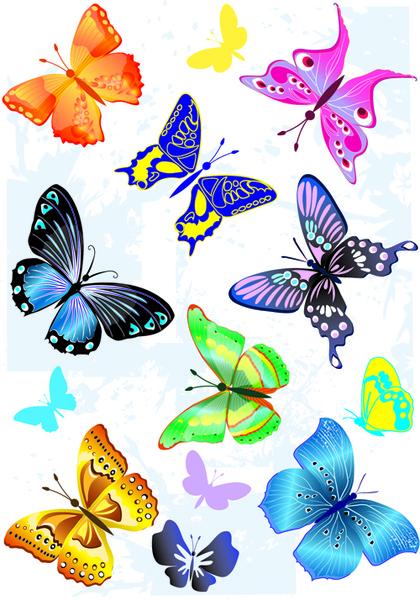 sorts of butterflies clip art vector-sorts of butterflies clip art vector-16