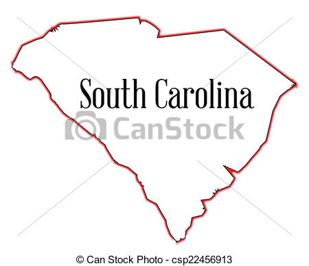 ... South Carolina - Outline map of the state of South Carolina South Carolina Clipartby ...