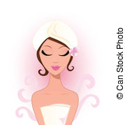 ... Spa And Wellness: Beauty Woman With -... Spa and wellness: Beauty woman with flower - Spa woman with.-14