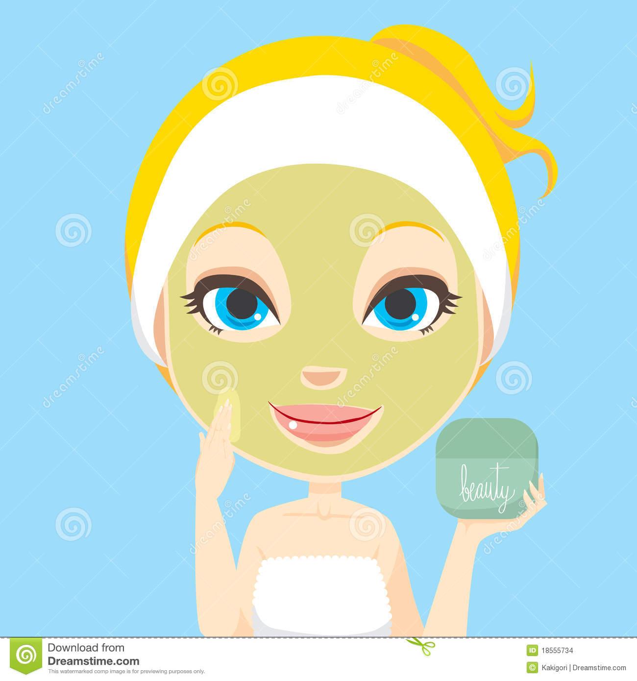 Spa Facial Clip Art