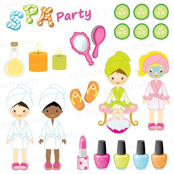 Spa Party Invitation Spa Party Spa Party-Spa Party Invitation Spa Party Spa Party Clipart Spa Clipart Nail-18