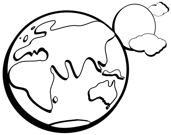 Space Clip Art - Space Clipart Black And White