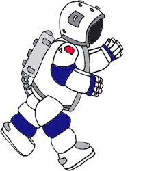 A space suit is a garment worn to keep a human alive in the harsh  environment