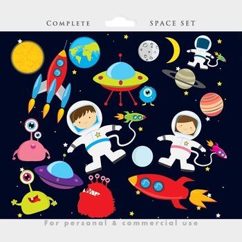 Space Clipart - Astronaut Clip Art, UFOs-Space clipart - astronaut clip art, UFOs, aliens, spaceship, rocket, planets-16