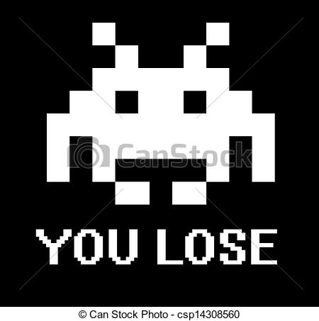 You lose space invader sign - csp14308560