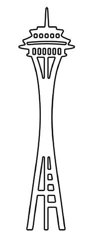 Space Needle Clip Art