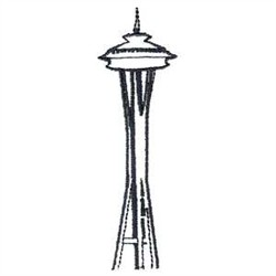 Space Needle Coloring Page .
