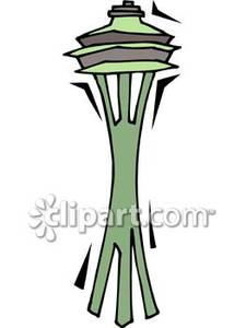 Space Needle Rocket Clipart #1