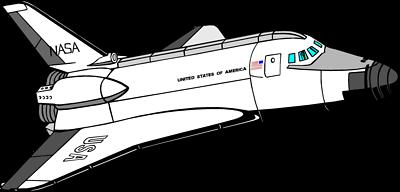 Space Shuttle Clip Art - C..
