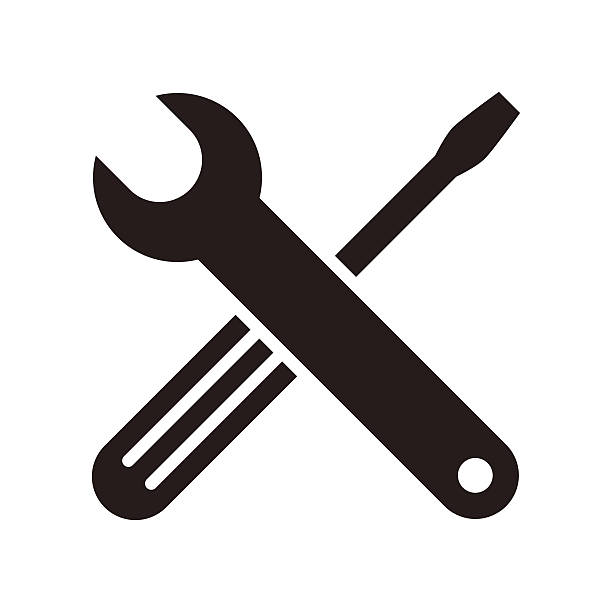 Wrench And Screwdriver Icon Vector Art I-Wrench and screwdriver icon vector art illustration-17