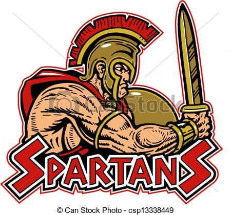 ... spartan with shield and sword