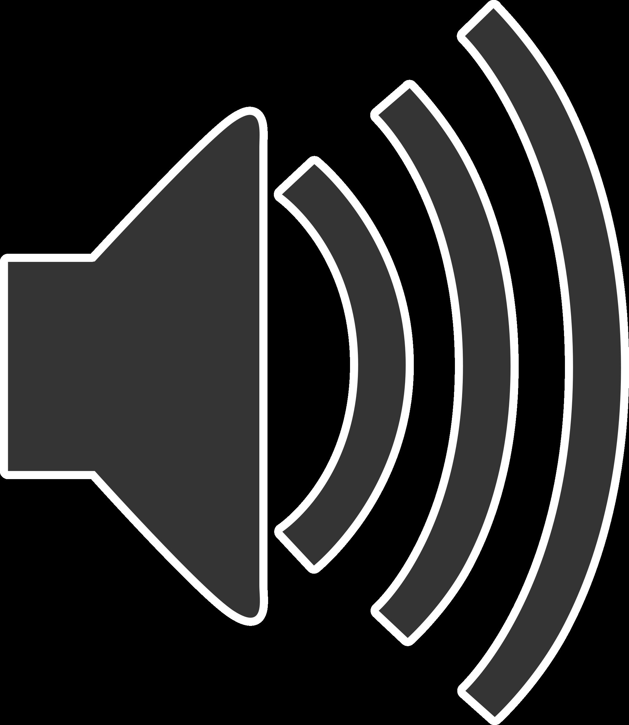 Speaker Icon Clip Art. BIG IMAGE (PNG)