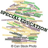Special education - Abstract word cloud for Special... Special education Clipartby ...