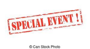 ... Special event - Rubber stamp with text special event inside,.