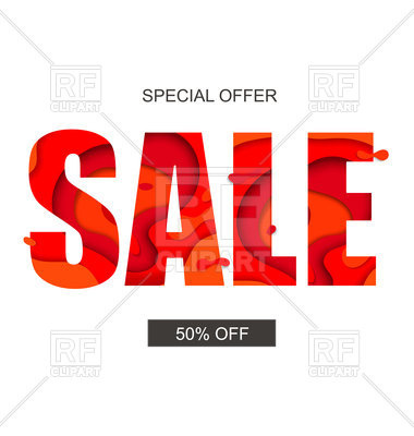 Sale banner with special offer text, 174910, download royalty-free vector  vector image ClipartLook.com