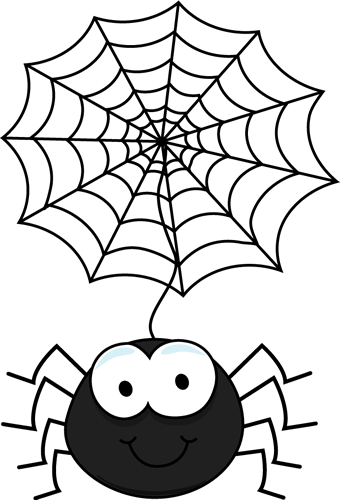 Spider Hanging From A Web Clip Art-Spider Hanging From a Web Clip Art-16