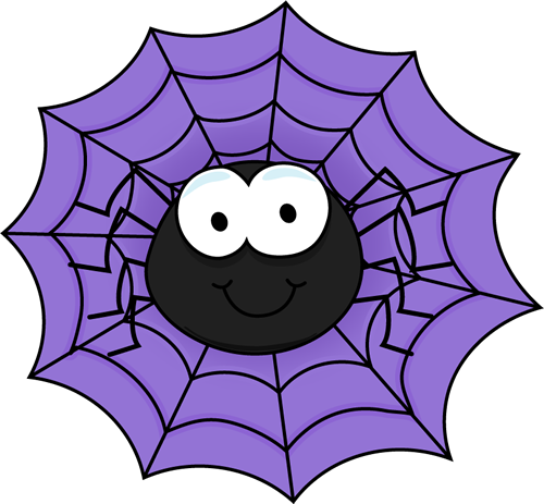 Spider In A Purple Spider Web Clip Art-Spider in a Purple Spider Web Clip Art-18