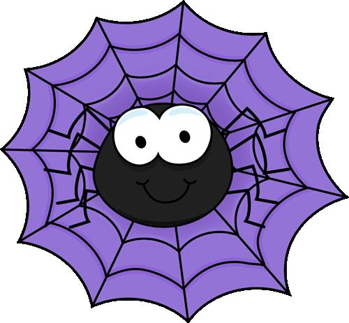 Spider in a Purple Spider Web