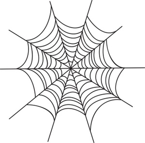 Spider Web Cartoon Clipart