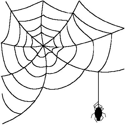 Spider web clip art tumundogr - Spider Web Clipart