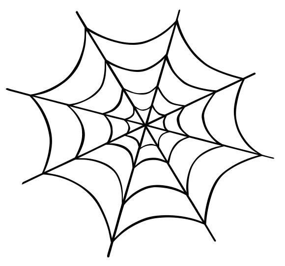 Spider web clipart 9 3