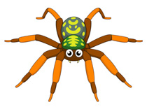 Spider With Fangs Clipart Size: 109 Kb