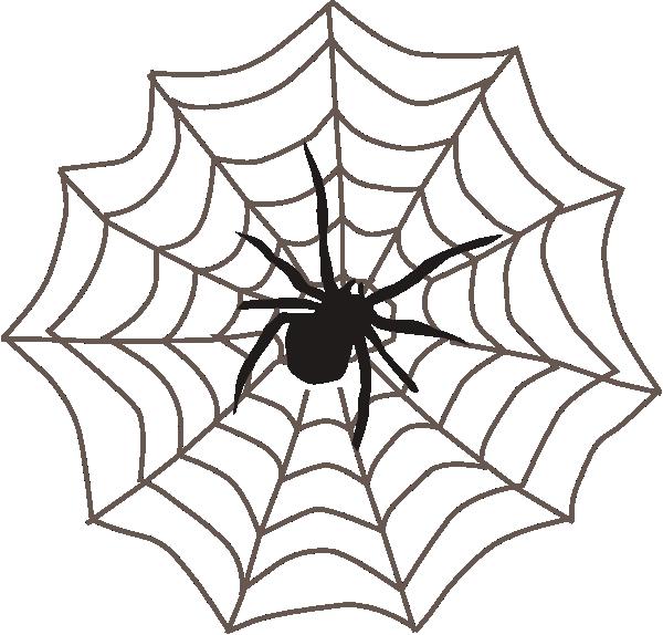 Spider With Web Clip Art At Clker Com Vector Clip Art Online