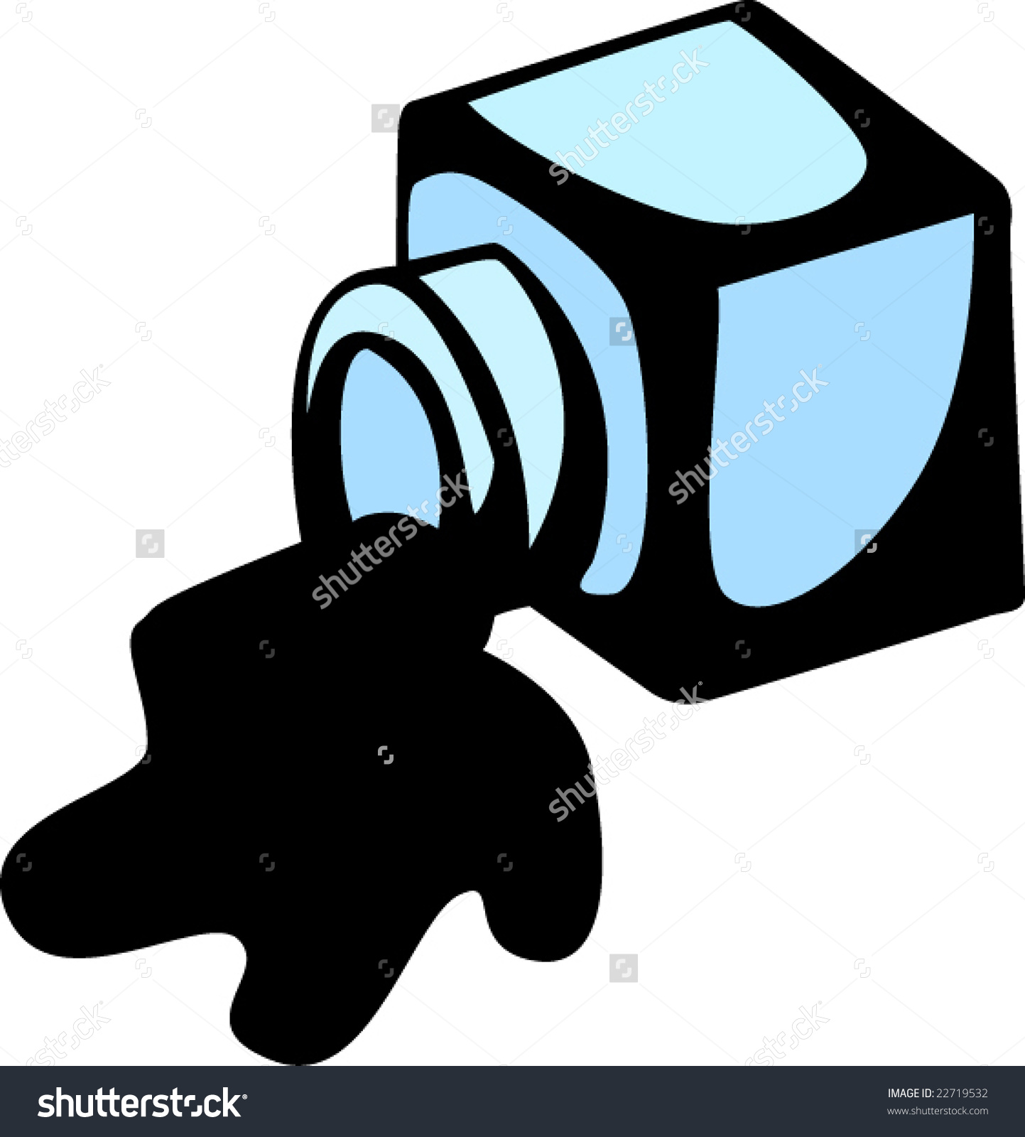 Spilled Ink Stock Vector .