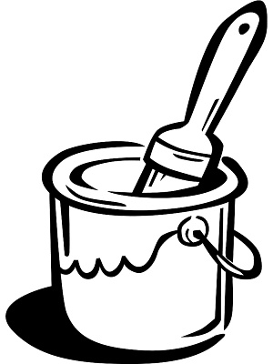 Spilled Paint Can Clipart. A  - Paint Can Clip Art
