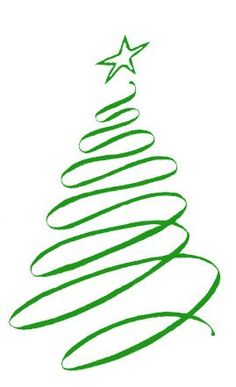spiral christmas tree clipart