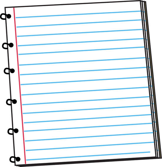 Spiral Notebook Clip Art Image Spiral Notebook Lined Paper