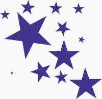 splash-of-stars - Clip Art Stars