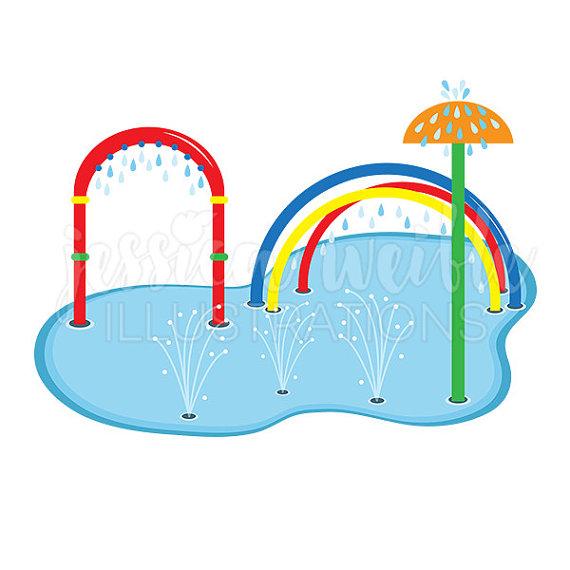 Splash Pad Clip Art, Cute Digital Clipar-Splash Pad Clip Art, Cute Digital Clipart, Water Park Clip art, Summer Swim-10