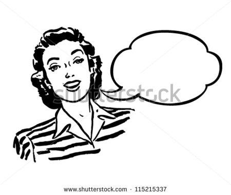 Spokeswoman - Retro Clipart Illustration-Spokeswoman - Retro Clipart Illustration-19