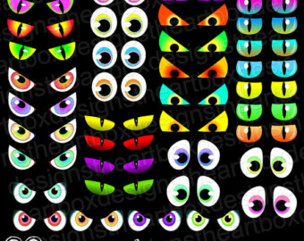 Spooky Eyes Clipart Creature  - Spooky Eyes Clip Art