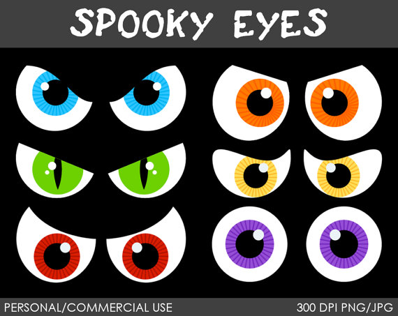 Spooky Eyes Clipart Digital Clip Art Graphics For Personal Or