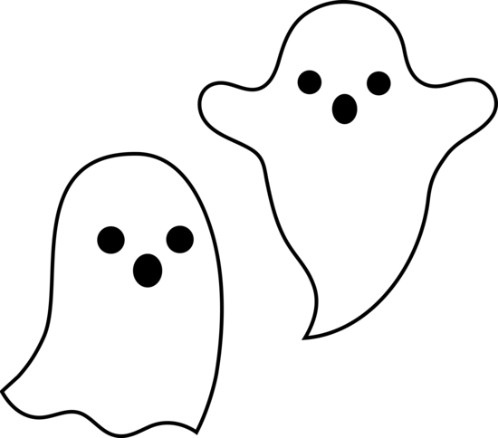 Spooky Halloween Clipart. Simple Spooky Halloween Ghosts .