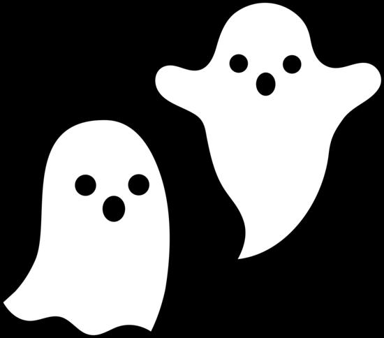 Spooky Halloween Clipart. Simple Spooky Halloween Ghosts .
