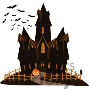 Spooky Haunted Mansion Clipart