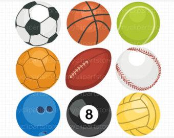 sport ball clip art u2013 Etsy