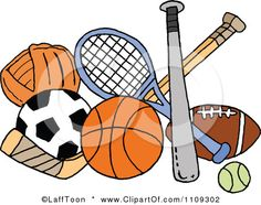 sports baby shower clip art sports | ... Sports Equipment Posters, Art Prints
