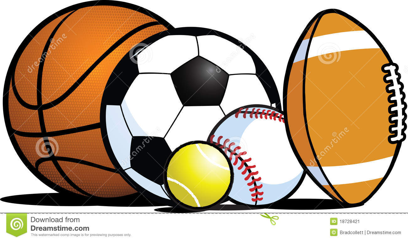 Sports Balls Clipart Borders  - Sports Balls Clipart