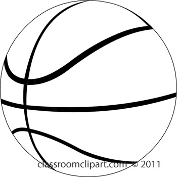 Sports Basketball 4 11c Class - Basketball Black And White Clipart