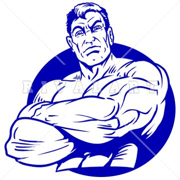 Sports Clipart Image Of A Strong Man Wit-Sports Clipart Image of A Strong Man With His Arms Crossed-7